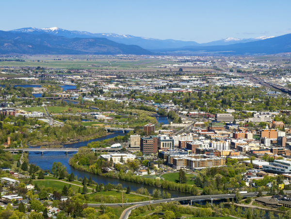 image of Missoula from Mt Sentinel