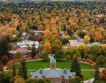 View of campus from Mount Sentinel