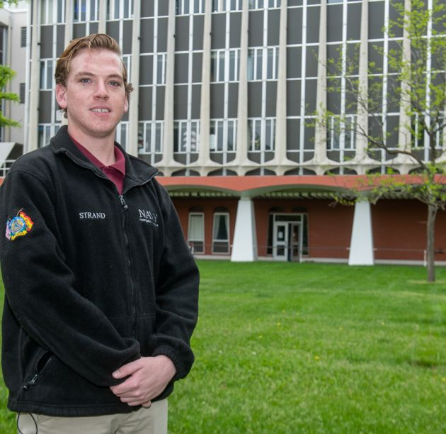 Student/veteran Jake Strand