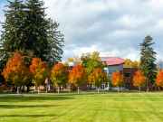 image of campus in the fall