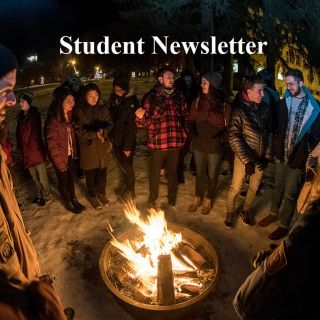 international students bonfire
