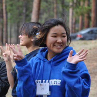 Teagan at leadership retreat