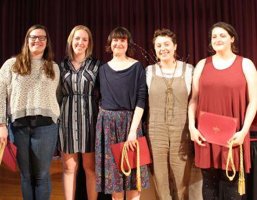 Winning capstone team with awards