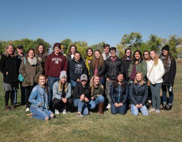 Global Leadership Seminar students on a field trip