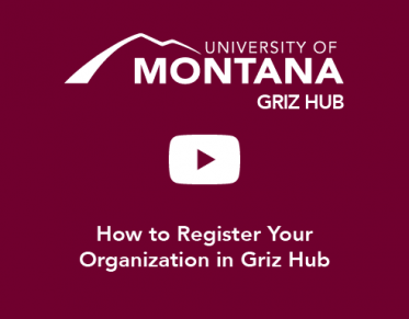 How to Register Your Organization in Griz Hub