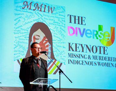 Joseph Grady presenting at DiverseU 2019