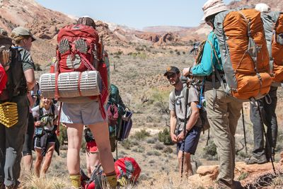 Bryson Allen leads a Campus Recreation Spring Break trip to Capitol Reef, Utah.