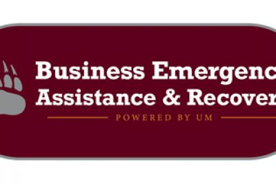 Business Emergency Assistance and Recovery Powered by UM initiative logo