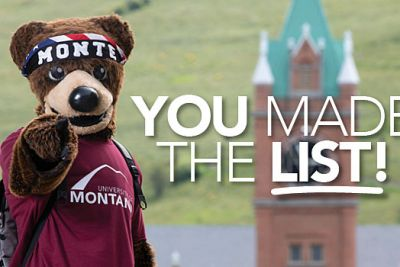Monte points with the text: You Made the List!
