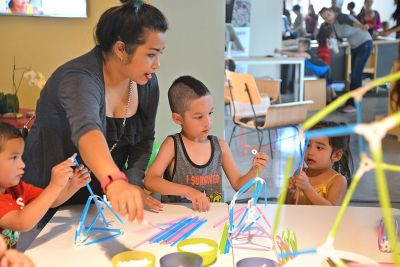 A family plays and learns together at spectrUM.
