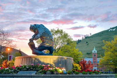 A sunrise at the University of Montana