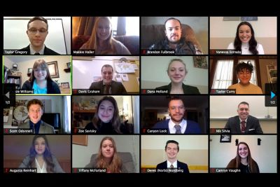 A screen shots of Montana Model UN students on Zoom