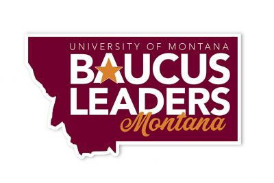 The logo for Baucus Leaders Montana