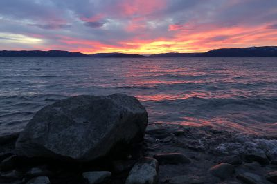 Photo of Flathead Lake shoreline