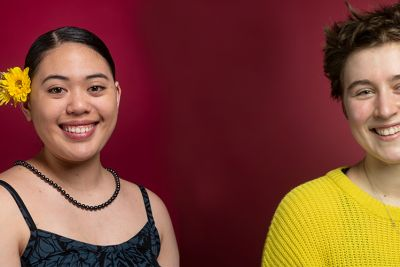 Headshots of each of UM's newest Udall Scholar. Left: Alexios Smith. Right: Raina Woolworth