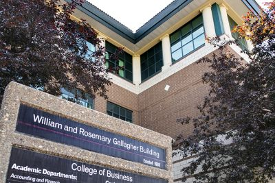 Photo of the College of Business building