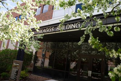 A picture of the Skaggs Building