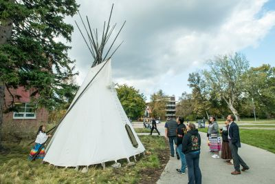 A tipi on the UM campus