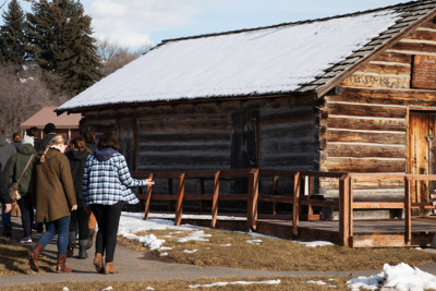 UM students tour history Fort Missoula