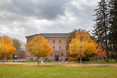 UM's Math Building in fall