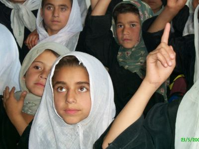 Girls in a Northern Afghanistan primary school.