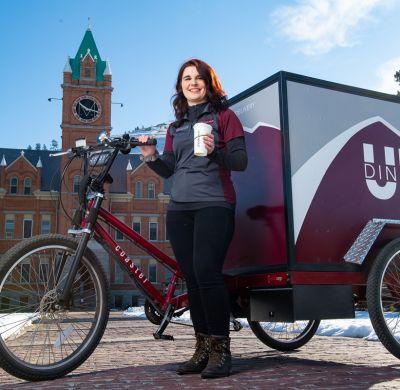 Katie Helms Photo next to bike