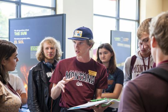 UM Advocate leads a Big Sky Experience at SpectrUM Discovery Area 2019