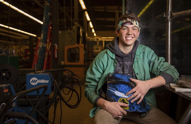 Photo of welding student