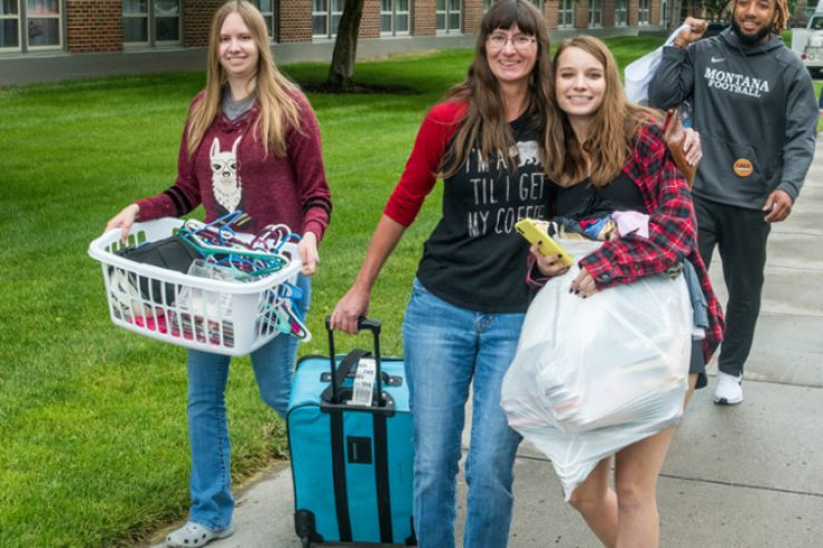 Students moving in.