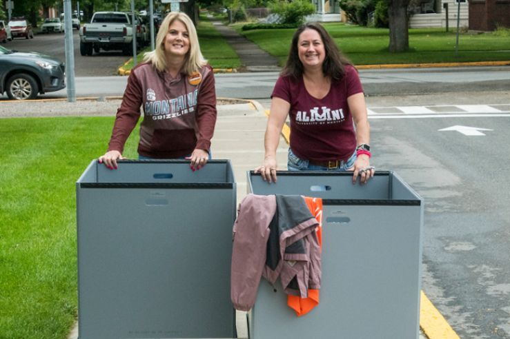 Staff helping with move-in.