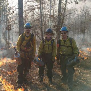 Prescribed Fire Practicum students conduct a prescribed burn