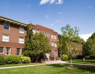Turner Residence Hall, home of the Dell Brown conference room