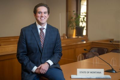 A picture of Brandon Zeak in a Missoula courtroom.